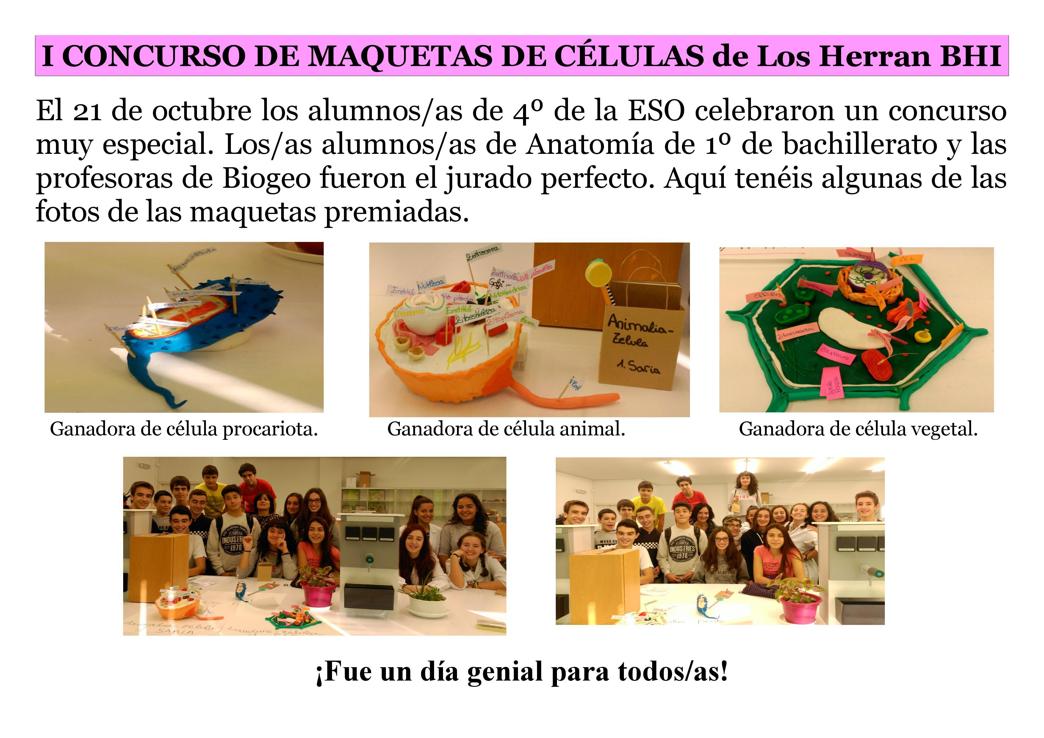 I. Concurso de Maquetas de Células - I.E.S. Los Herrán B.H.I.